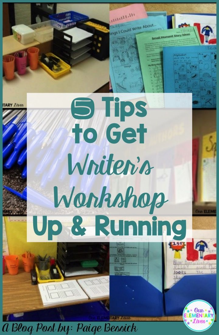 5 Tips to Get Writer's Workshop Up and Running in your elementary classroom.  These are invaluable tips to help you launch and get started.  Includes tips for anchor charts, folders, writing centers/stations and more!  Perfect for kindergarten, first, second and third grades, you're going to love these tips!  There's even an extra tip, make sure to check it out!