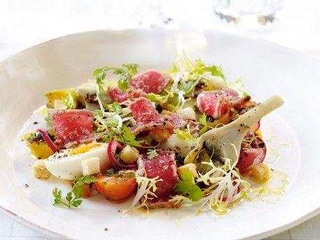 Sallad niçoise med grillad tonfisk