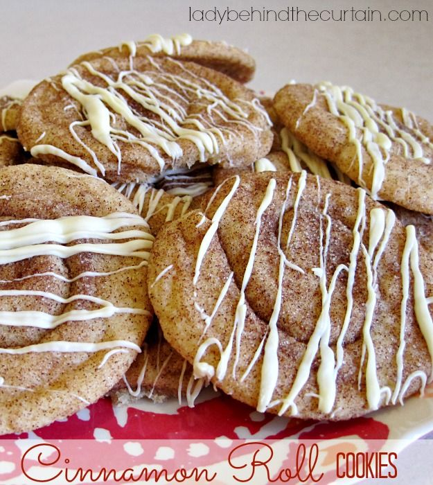 Cinnamon Roll Cookies Recipe ~ soft and chewy... They freeze beautifully!