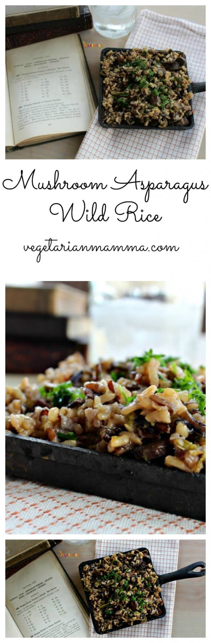 Wild rice with asparagus and mushrooms   – Lots of Gluten-Free Recipes