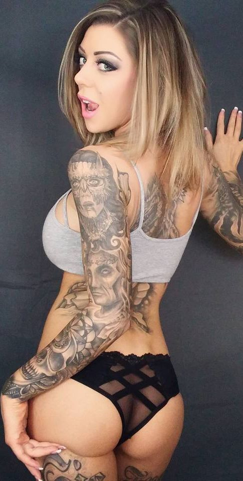 sexy tattooed porn girls