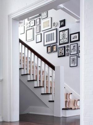 Stair photo wall