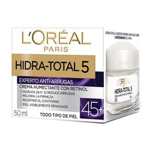 Hidra-Total 5 Crema Humectante Anti Arrugas 45+ que responde a las necesidades específicas de la piel a partir de los 45 años de edad.