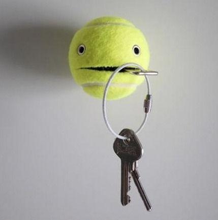 Tennis Ball HelperDiy Ideas, Ball, Diy Crafts, Cute Ideas, Ruins, Blog, Tennis, Keys Holders, Design