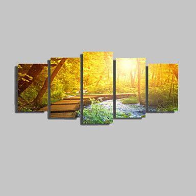 Szabadidő / Landscape / Botanikus / Fényképészeti / Romantikus / Utazás Vászon nyomtatás Öt elem Kész lógni , Vízszintes 4745515 2016 – $33.99
