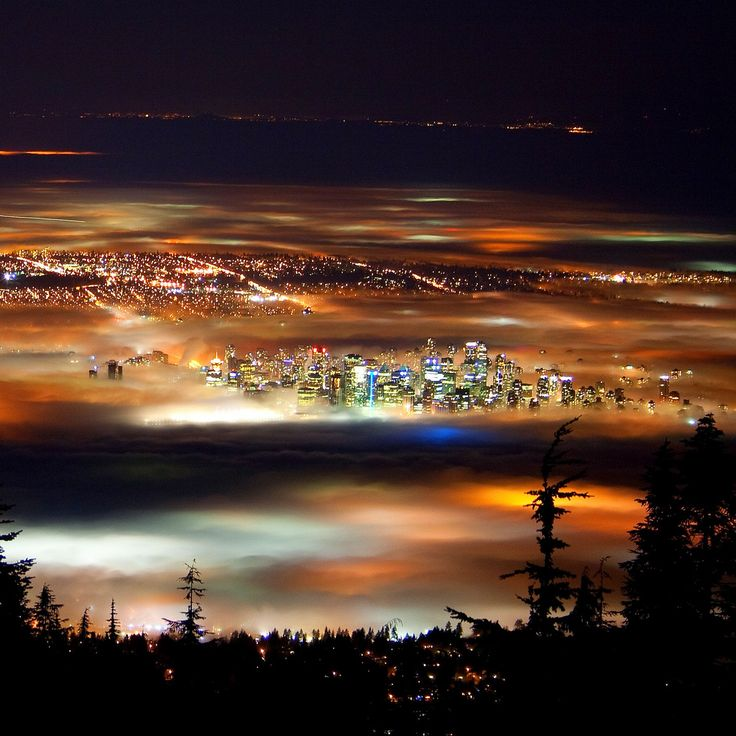 Vancouver at night from the North Shore.