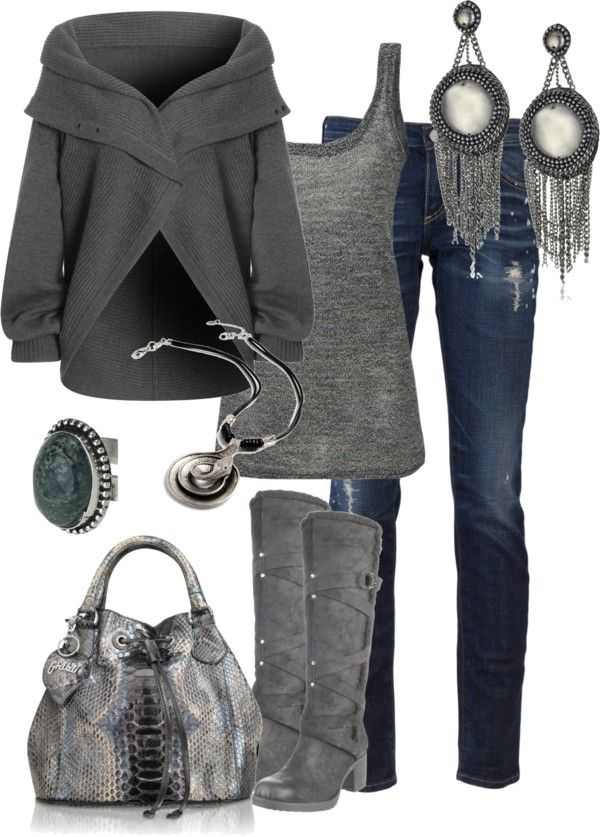 .Sweaters, Style, Closets, Clothing, Winter Outfits, Fall Fashion, Grey, Fall Outfit, Boots