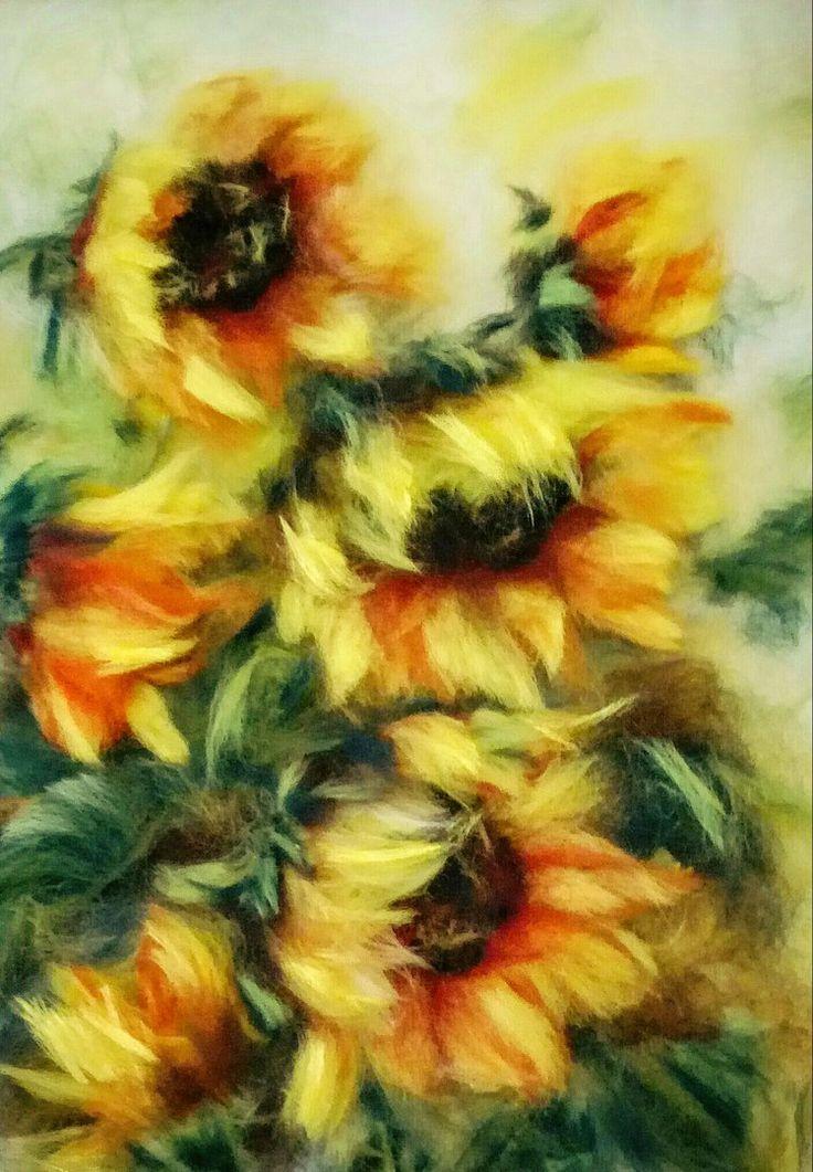 Картины из шерсти Александры Фёдоровой