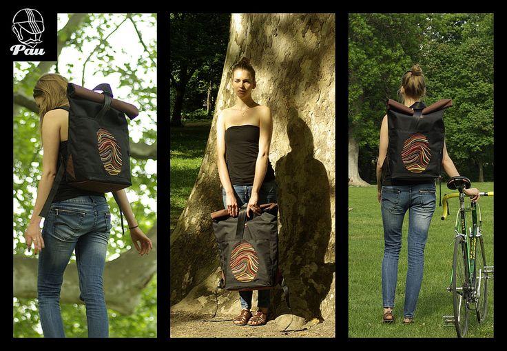 rolltop bag, backpack, shoulder bag, messenger bag by thePAUbag on Etsy