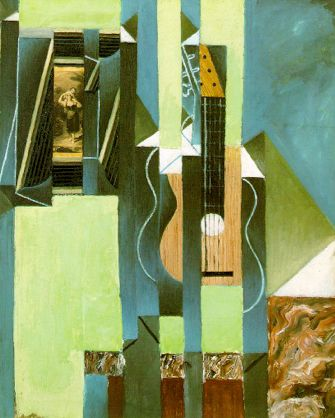 Juan Gris The Guitar 1913 oil and papier colle on canvas 61 x 50cms