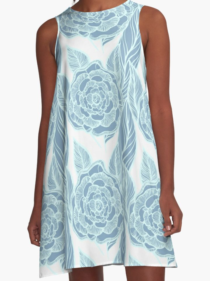 new flowers pattern available on #redbubble .blue rose pattern by #kanvisstyle
