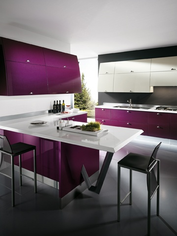 | Trendy shades for an absolutely unique kitchen | Flux by #GiugiaroDesign | #Scavolini | #Kitchens |