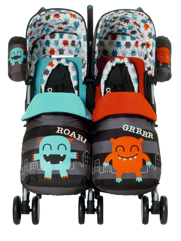 Cosatto Twin Stroller - Cuddle Monster | isme.com