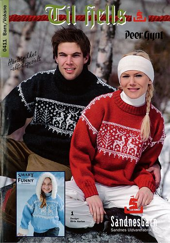 Classic Reindeer Sweater in men's sizes. Booklet also contains women's and children's versions. This is the cover sweater for the booklet.