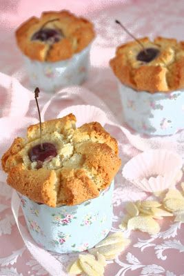 Cherry on a Cake: CHERRY CUPCAKE FINANCIERS