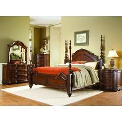 cherry wood 4 poster bedroom set from Sears.com