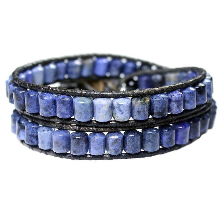 Men's wrap bracelet classic B6 Sodalite
