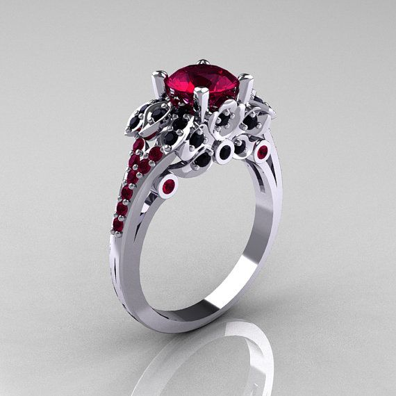 Hey, I found this really awesome Etsy listing at http://www.etsy.com/listing/150314392/classic-14k-white-gold-10-ct-red-garnet