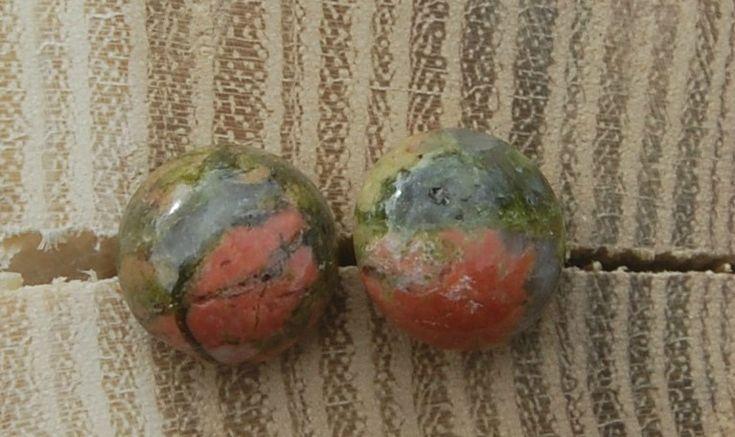 Ørestikker Sølv 925s Unakit perler Kr. 150,-