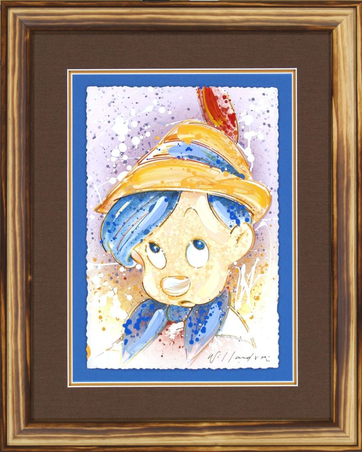 Pinocchio - Original- David Willardson - World-Wide-Art.com - #davidwillardson #disney