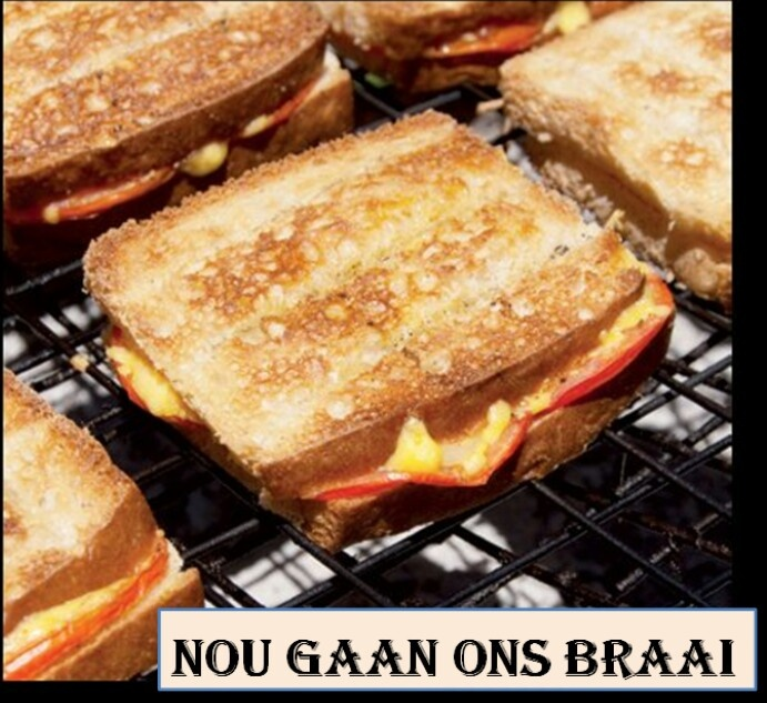 Nothing beats a braai, even if its only done to make toasted sandwiches...