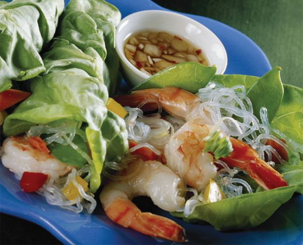 Thai Shrimp Lettuce Wraps - healthy, quick, and supposedly kid friendly!  Looks gluten-free too