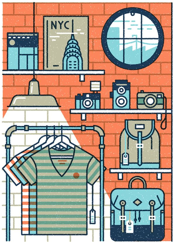Part of our illustration in the latest Monocle for an article on retail and shopping on the high street.  See the full illustration here: http://www.behance.net/gallery/Monocle-67/11340721