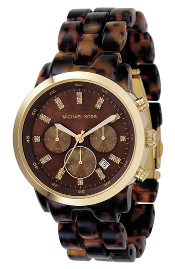 Michael Kors animal print watch