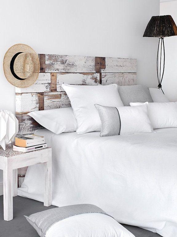 Ropa de cama para dormitorio blanco decorar tu casa es - Decorar dormitorio blanco ...