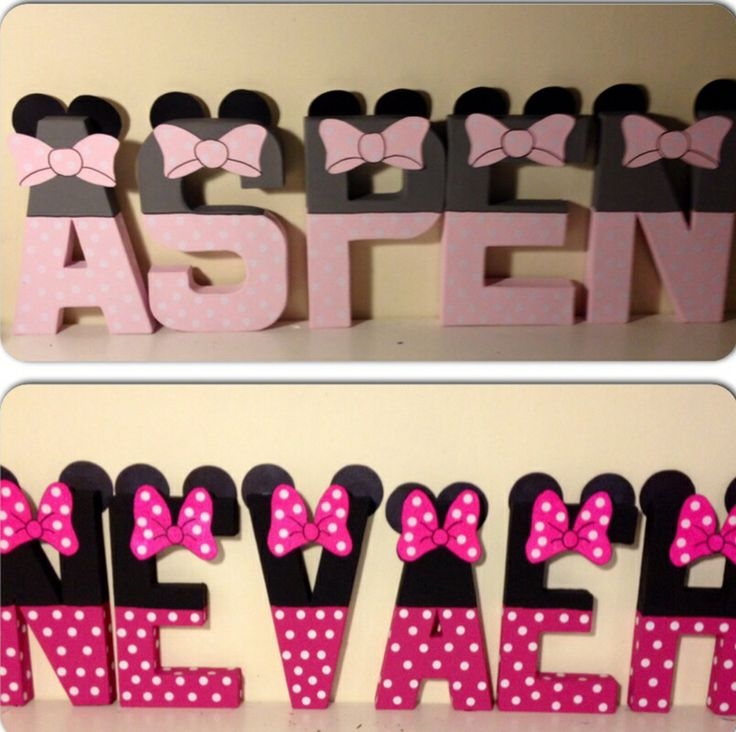 Minnie Mouse Inspired Character Wall Letters Www Facebook