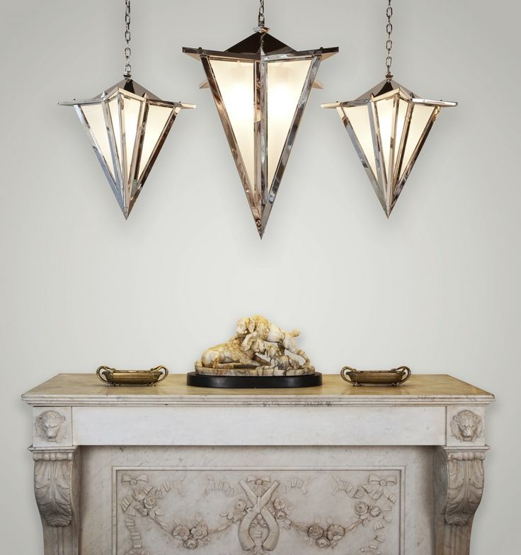 1000 images about art deco lighting on pinterest fisher for Art deco exterior light fixtures