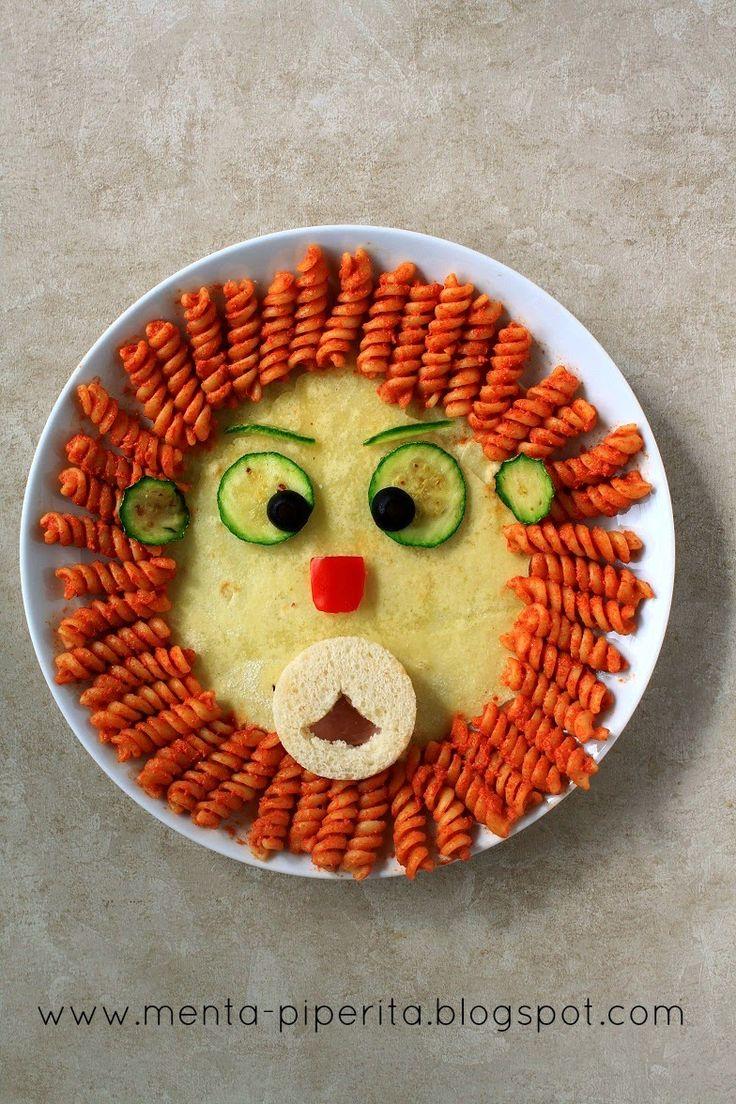 #food4kids #creativefood #lion #pasta