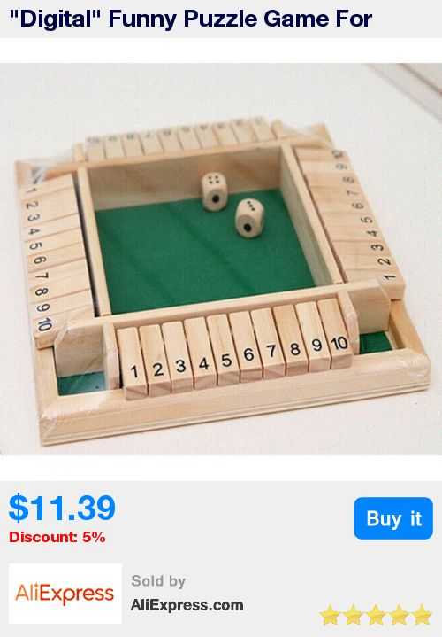 """""""Digital"""" Funny Puzzle Game For Party/Club/Family Games ,Shut The Box Board Game Set Number Drinking Games * Pub Date: 17:12 Jun 29 2017"""
