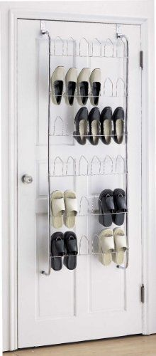 Captivating 18 Pair Chrome Over The Door Hanging Shoe Rack Storage Organiser Top Home  Solutions Http: