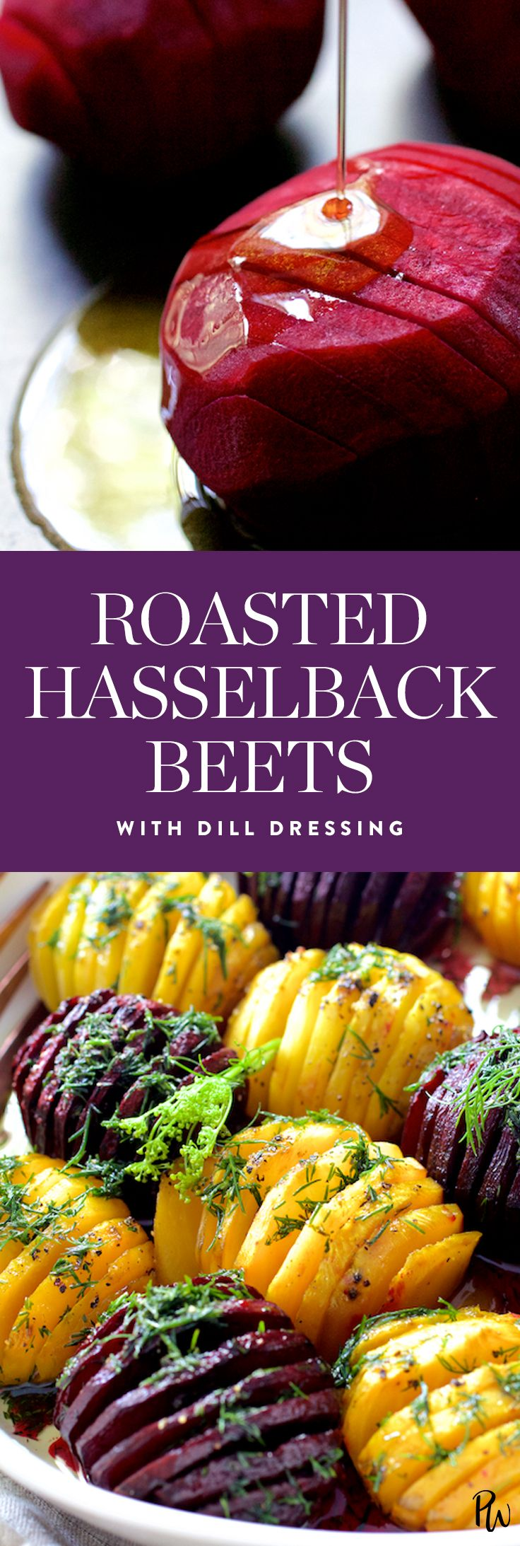 Roasted hasselback beets with dill dressing by From A Chef's Kitchen
