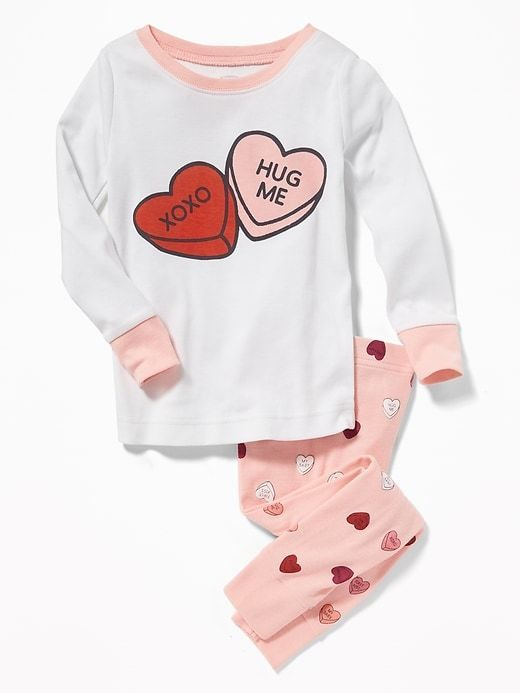 0bba874f8a Candy-Hearts Graphic Sleep Set for Toddler   Baby for Valentine s  Affiliate