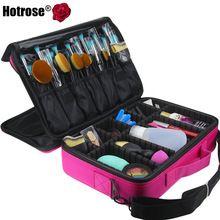 Hotrose Mujeres Del Organizador Del Maquillaje Profesional Kit de Cosméticos de Color Rosa Caja de Almacenamiento de Gran Capacidad Bolsa de Desmontaje Libre Maletas de Maquillaje(China (Mainland))