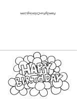 your little one can color and give his own card to friends or family for an