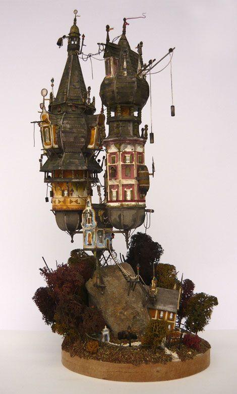中世的ファンタジー世界。スチームパンク感溢れるジオラマ作品に好奇心をくすぐられる   ARTIST DATABASE/アーティストデータベース