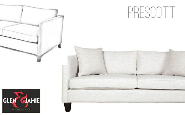 Prescott sofa from Glen and Jamie's designer collection #GlenandJamie #furniture #design #sofa