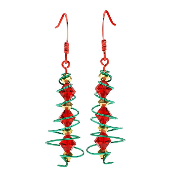 Tutorial   How To: Wire Spiral Christmas Tree Earrings | Beadaholique