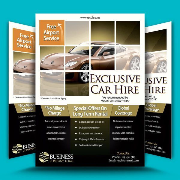 Car Hire Flyer Template