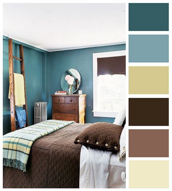 Tiffany Blue And Brown Bedroom