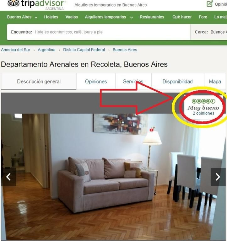 Booking.com: Apartment Departamento Arenales en Recoleta , Buenos Aires, Argentina  - 28 Guest reviews . Book your hotel now!