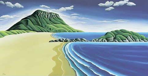 Mount Maunganui by Diana Adams for Sale - New Zealand Art Prints