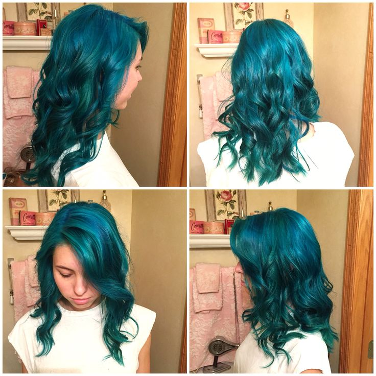 Mermaid hair. Manic Panic Atomic Turquoise and Voodoo Blue