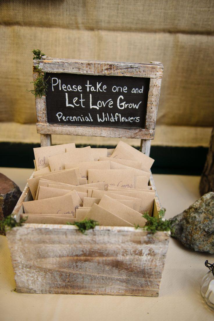Wildflower Seed Wedding Favors in Ely, Minnesota