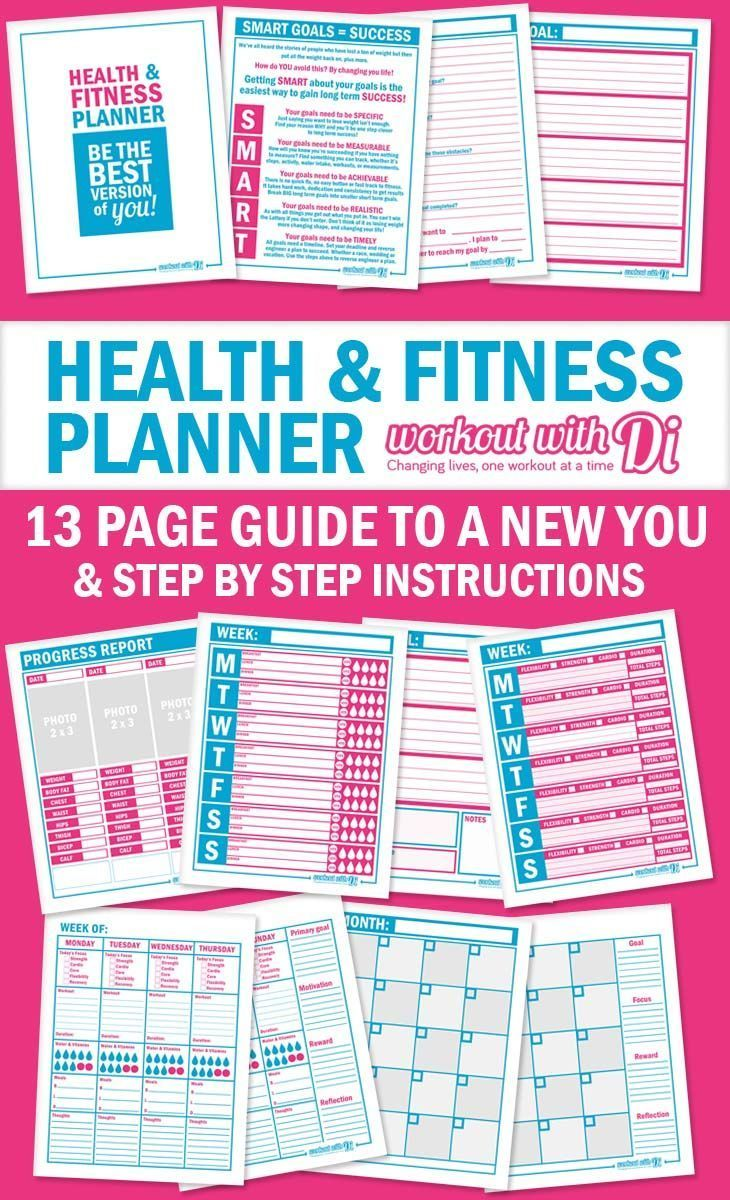 Stay on track with this free health and fitness planner, and goal setting sheets. Plus workbook to guide you through setting goals,