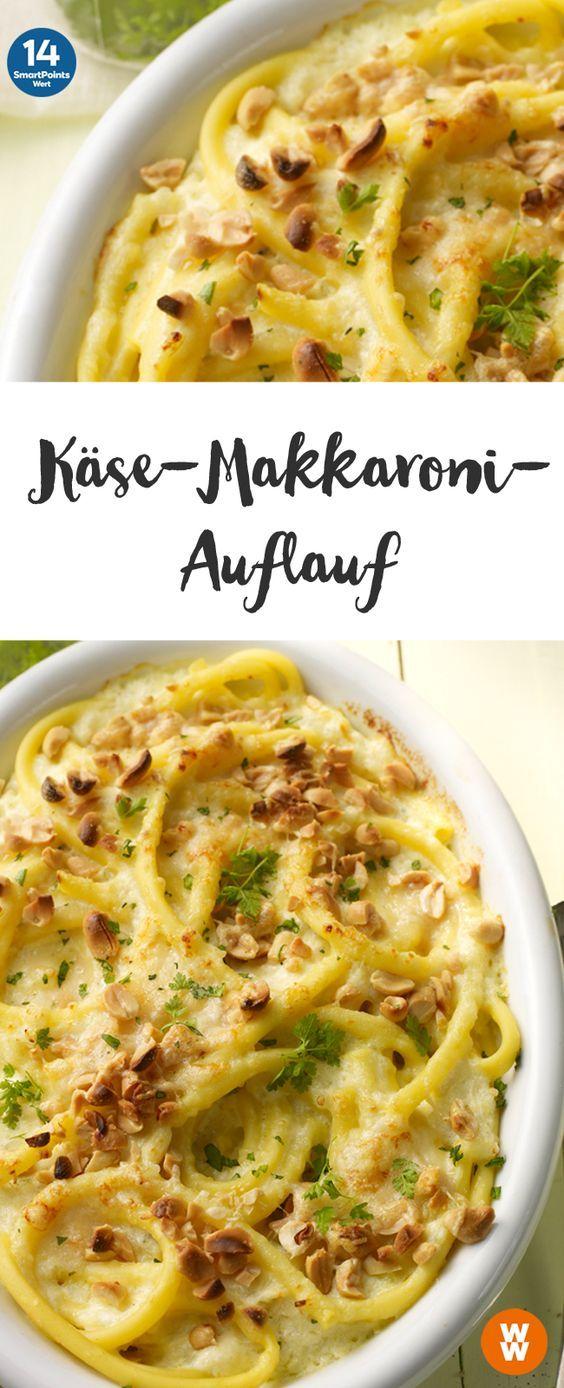 Käse-Makkaroni-Auflauf   4 Portionen, 14 SmartPoints/Portion, Weight Watchers, fertig in 60 min.