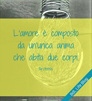 L'amore è composto da un'unica anima che abita due corpi. Aristotele
